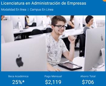 Costo UNITEC en línea
